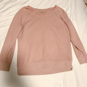 trendy pink sweater